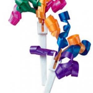 Ribbons Bright Sm. DecoPics 3″ 48 CT