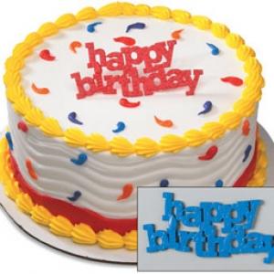 Happy Birthday Block Letter Layon 72 CT