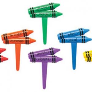 Crayon Bilingual 2-D Pick 2″ 144 CT