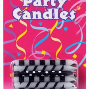 Stripes/Dots Candles 2 1/2″ 20 PCS 12 CT