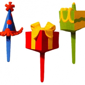 Birthday Party Assorted Picks 3″ 144 CT
