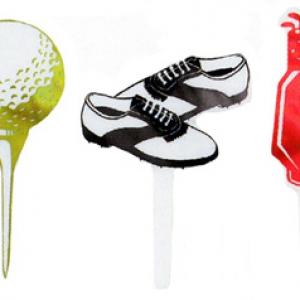 Golf Foil Assorted DecoPics 144 CT