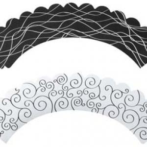 Black & White Reversible Wraps 24 CT