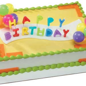 Happy Birthday Neon Candles DecoSet EA