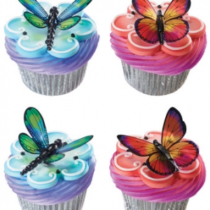 Dragonfly & Butterfly DecoPics 36 CT