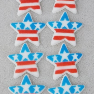 Star With Stars & Stripes Dec-Ons 120 CT