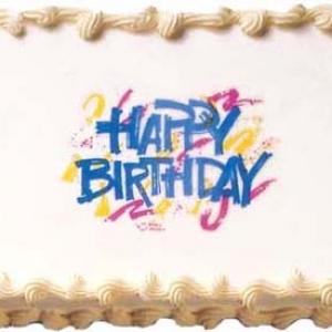 Happy Birthday Bold Edible Image 12 CT