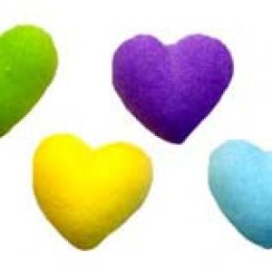 Rainbow Heart Charms Dec-Ons 1/2″ 588 CT