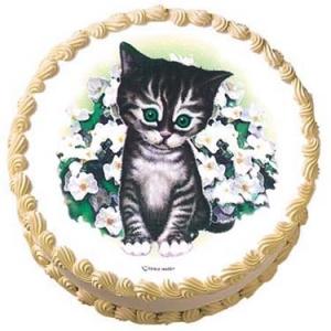 Kitten With Flowers EI 12 CT