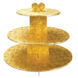 Single Use Gold 3 Tier Stand