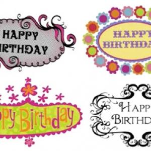 Stylish Birthday Plaques Var 20 CT