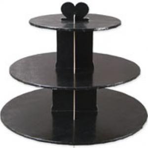 Single Use 3 Black Tier Stand