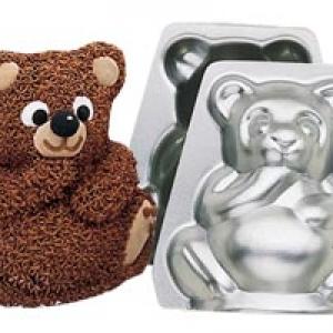 Bear 3-D Mini 4″ high Pan Set