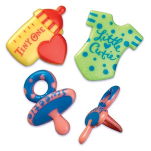 Baby Symbols Puffy Ring 2 3/4″ 144 CT