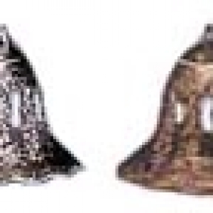 Gold Lace Bell 2″ 12 CT