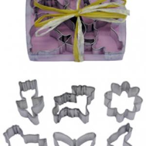 Spring Shapes Cutter 1 1/2″-2 1/2 6 PCS Set