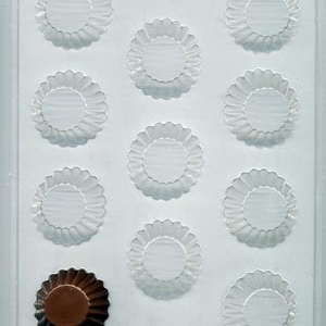 Fluted Cups Candy Mold 11 CAV