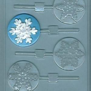 Snowflake Sucker Mold Assorted 4 CAV