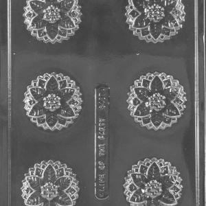 Poinsettia Cookie Mold 6 CAV