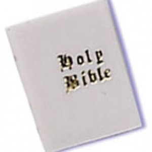 Bibles White Small 1 3/4″ 12 CT