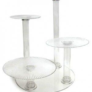 Crystal Splendor 4 Tier Cake Stand
