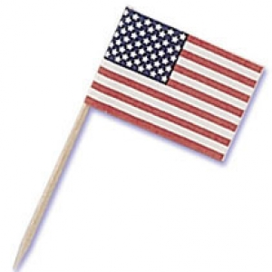 American Flag Pick 2 1/2″ 144 CT