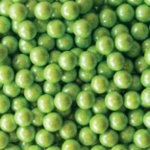 Lime Green Shimmer Sixlets 2 LB