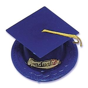Grad Hats Royal Blue 3 1/2″ 24 CT