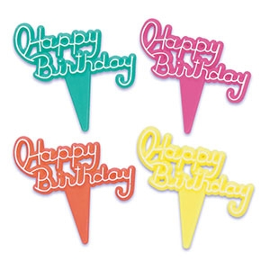 Happy Birthday Picks 2″ 144 CT
