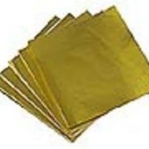 Foil Wrappers Gold 3″ x 3″ 500 CT