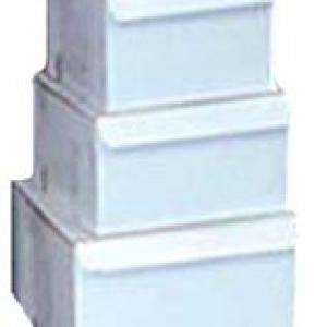 16″ x 16″x 5″ White Cake Box 50 CT