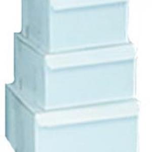 12″x 12″x 5″ White Cake Box 100 CT