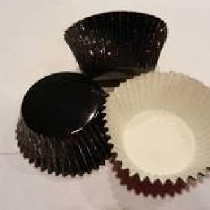 Mini Black Foil Cups 1 1/4″B 7/8″W 500 CT