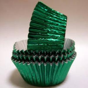 Mini Green Foil Cups 1 1/4″B x 3/4″W 500 CT