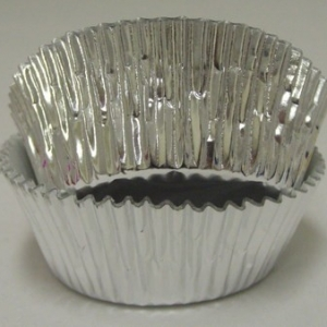 Silver Foil Baking Cups 2″ 500 CT