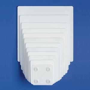 13″ SQUARE White Plate