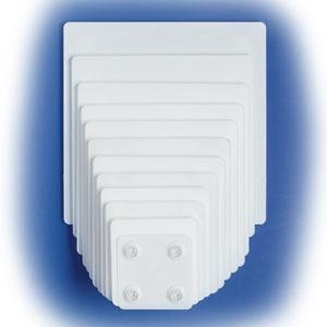 14″ SQUARE White Plate