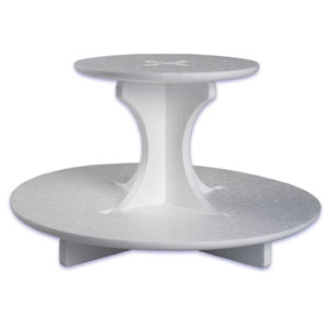 Single Use ROUND 2 Tier Stand 3 CT
