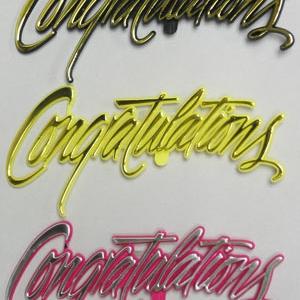 Congratulations Fancy Script 5″ 72 CT