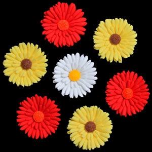 Shata Daisies White w/ Yellow Center 2″ 18 CT