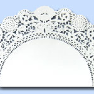 Lace Doilies 10″ RD Wh Normandy Lace Pattern 500 CT
