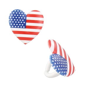 I Love The USA Ring 1 3/8″ 144 CT