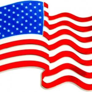 USA Flag Plaque 24 CT