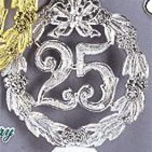 25th Anniversary Silver Wreath w/base 5.5″ 12 CT