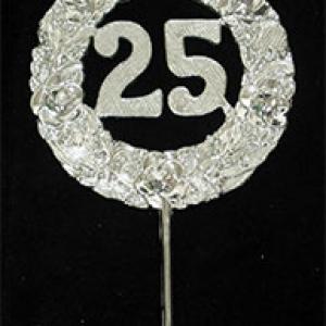 25th Anniversary Silver Wreath Pick 2 1/2″ 24 CT