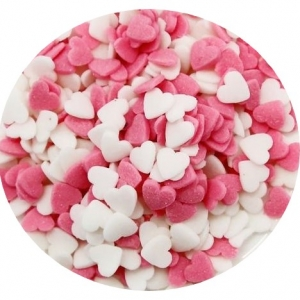Heart Quins Pink & White 5 LB