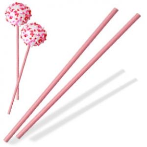 Sucker Stick Pink 8″ x 5/32″ 6,500 CT
