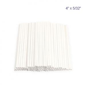 Sucker Stick White 4 1/2″ x 5/32″ 100 CT