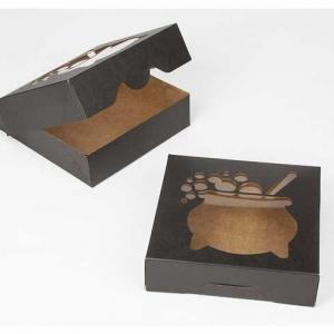 9″ x 9″ x 2 1/2″ Black/Brown Cauldron Window Timesaver Box 50 CT
